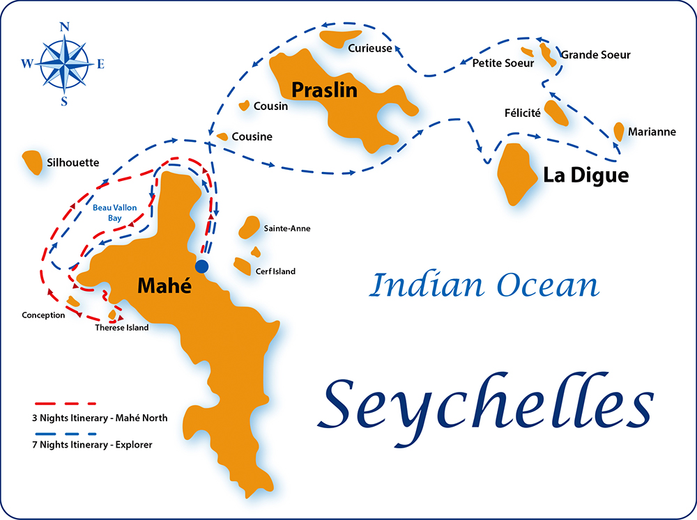 cruises seychelles map x